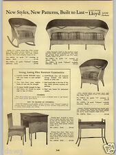 1938 PAPER AD 2 PG Lloyd Loom Fiber Fibre Furniture Settee Rocking Chair Rocker