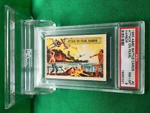 1965 Vintage A&BC Battle cards ATTACK ON PEARL HARBOR #2 NM-MINT 8 - garno PSA