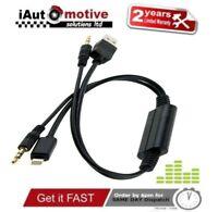 Bmw Mini iPod iPhone 5 6 S SE Plus Interface Audio USB Y Cable AUX Adaptor Lead