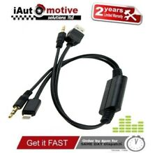 Bmw Mini iPod iPhone 5 6 S SE Plus Interface Audio USB Y Cable AUX Adaptor Lead