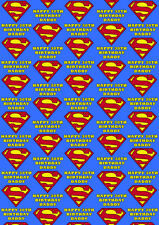 SUPERMAN Personalised Gift Wrap - Spiderman Wrapping Paper - Marvel