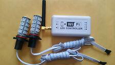 HB4 9006 9012 RGB COLOR CHANGING HEADLIGHT FOG LIGHT WIFI PHONE APP CONTROLLER