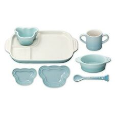 Le Creuset Baby Tableware Dishware Set Heat-resistant Blue JAPAN Tracking F/S
