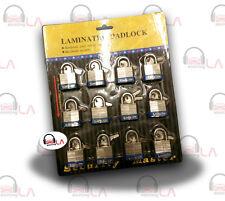 30mm LAMINATED STEEL CASE PADLOCK 12pc SET KEYED