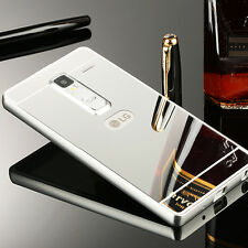 Deluxe Ultra-thin Metal Aluminum Bumper Case + PC Mirror Back Cover For LG Phone