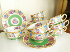 Vintage Black Knight Cups and Saucers SET / 8 (Eight) - NICE!