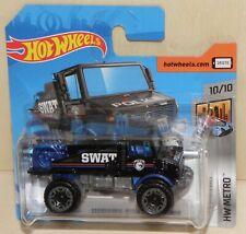 2020 Hot Wheels MERCEDES-BENZ UNIMOG 1300 SWAT Police Metro TREASURE HUNT GHD74