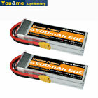 2pcs 14.8V 6500mAh 4S LiPo Battery 60C XT90 for Rc Helicopter Airplane Car Drone