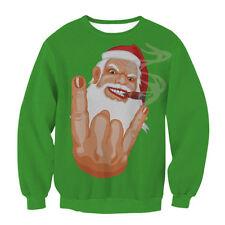 Unisex UGLY CHRISTMAS SWEATER Vacation Santa Elf Funny Womens Men Sweatshirt