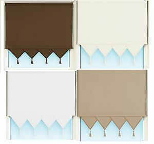 NEW  SUPERIOR QUALITY Triangle edge roller blinds, 4 COLOURS TO CHOOSE FROM