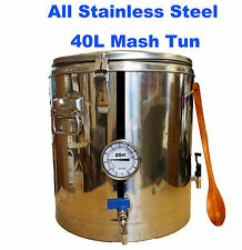 All Stainless Steel 40L HomeBrew All Grain Mash Tun Full Setup with S.S Tap