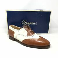 Men's Bragano by Cole Haan Spectator Oxfords Shoe Size 8 Brown White Leather T13