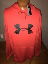 NWT Men's Under Armour Fleece® Big Logo Hoodie Sweatshirt 1345321 600 Size 3XL