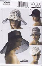 Vogue Sewing Pattern Cloche Hat Fascinator Small Brim size OSZ V8891