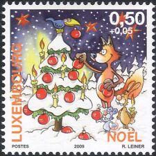 Luxembourg 2009 Christmas/Greetings/Fox/Rabbit/Mouse/Tree/Animation 1v (lu10159)