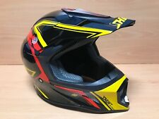 "Casco Shot ""Delantero"" Motocross Quad MTB BMX Shot Rage Negro Amarillo Rojo (XL)"