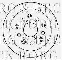 Front-RH Borg /& Beck BBD5784S Brake Disc Single