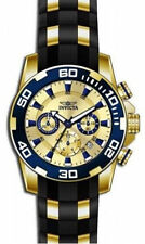 Invicta Gold Plated Case Analogue Wristwatches