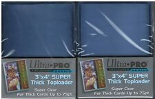 50 Ultra Pro 3x4 Extra Thick Toploaders 75pt (2 Packs of 25) Free Shipping!