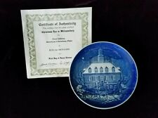 BING AND GRONDAHL CHRISTMAS IN AMERICA CHRISTMAS EVE IN WILLIAMSBURG PLATE 1986