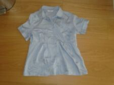 Ladies New Look silver grey short sleeve blouse, size 10