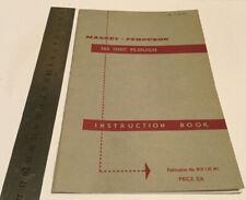 Massey Ferguson Original 765 Disc Plough Instruction Manual/Book