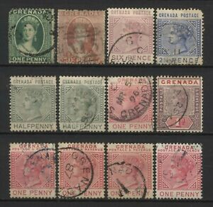 Grenada Collection 12 QV Stamps Used