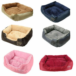 Pet Dog Cat Bed Mat Kitten Puppy Soft Cushion Blanket Base Washable Fleece S-XL