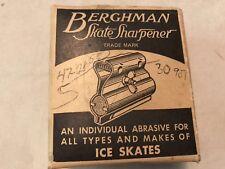 "Vintage ""Berghman"" Metal Ice Skate Sharpener In Original Box"