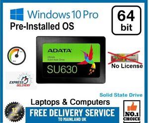 """120 240 256 480 500GB 512 1TB 2.5"""" SSD SATA Hard Drive Windows-10Pro LAPTOP & PC"""