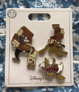 Disney Twilight Zone Tower Of Terror Bellhop Goofy Pluto Donald Three 3 Pin Set