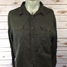 JACHS Mens Shirt Size Large Green Army A8