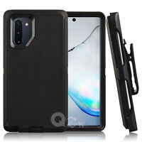 Samsung Galaxy Note 10/10+ Plus Defender Case Belt Clip fits Otterbox Black