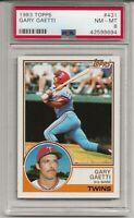 1983 TOPPS #431 GARY GAETTI, PSA 8 NM-MT, MINNESOTA TWINS, L@@K !