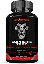 High Strength Testosterone Booster For Men (60 Caplets)  Build Muscle Fast  And