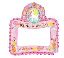 Magical Unicorn Selfie Inflatable Foil Photo Frame Photo Booth  Party Prop