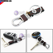 Red Leather Belt Car Keyring Keychain Key Chain Key Ring Holder Business-Style