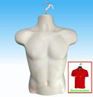 NEW - Male Mannequin Form,Hard Plastic Manikin Display Torso Men T-Shirt - Flesh