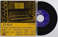 """J.S. BACH - TOCCATA E FUGA IN RE MINORE 33 giri EP 7"""" ANGELICUM 17LPA7009 1962"""