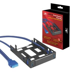 """Vantec USB 3.0 Front Panel For 3.5"""" Drive Bay With Dual 2.5"""" SSD/HDD Bracket"""