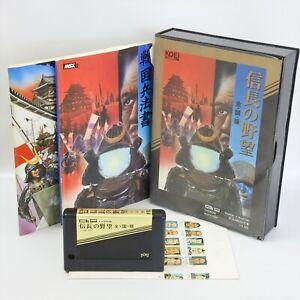 MSX NOBUNAGA NO YABO ZENKOKU BAN 1421 Msx2 Japan Game msx