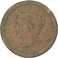 1853, 1c, Large Cent - Braided Hair - Collectors Coin