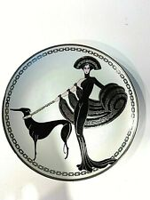 """Erté Collectibles Symphony Greyhound In Black"""" Limited Edition Plate"""