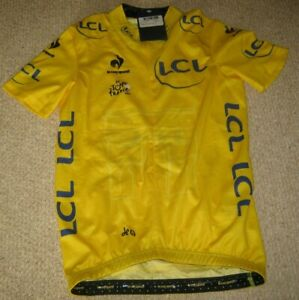 TOUR DE FRANCE 2015 LCS YELLOW LEADERS CYCLING JERSEY [S] BNWT