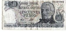 ARGENTINA 50 PESOS CURRENCY