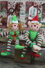 Plush Christmas Elf Soft Toy ~ Boy Design Vary