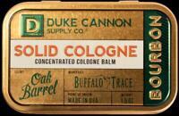 Duke Cannon Buffalo Trace Oak Barrel Bourbon Solid Cologne Gold Tin Container