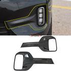 Carbon Fiber Front Lamp Foglight Cover Trim For Kia Seltos Car Accessories Parts
