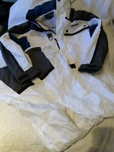 VINTAGE OBERMEYER RETRO  Snowsuit Ski SUIT BRIGHT WHITE/ BLACK NEON Men's XL