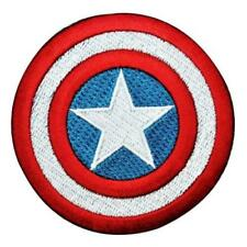 Marvel CAPTAIN AMERICA SHIELD IRON-ON PATCH Embroidered Applique Avengers Logo